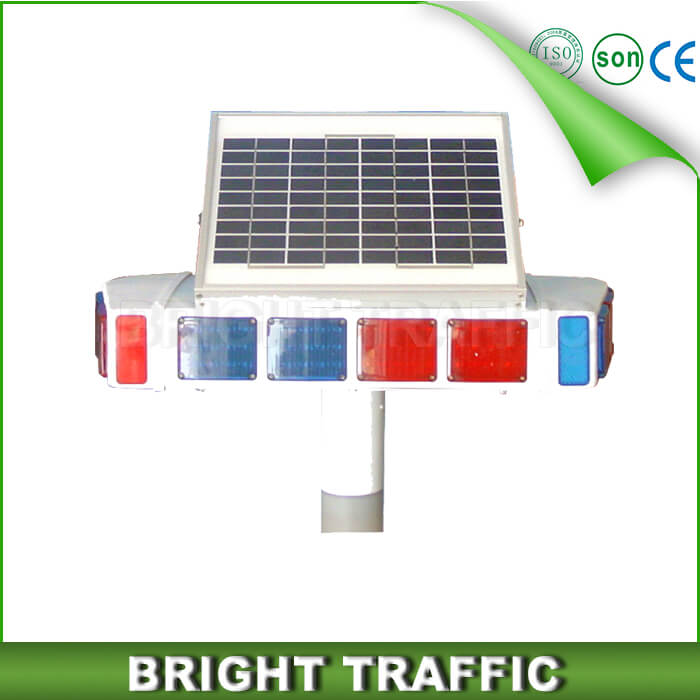 Solar Flashing Warning Light