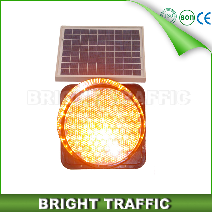 300mm Solar yellowing Flashing Warning Light