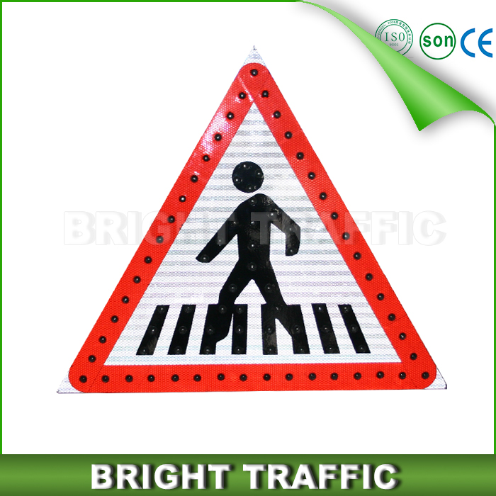 Solar LED Pedestrian Traffic Sign